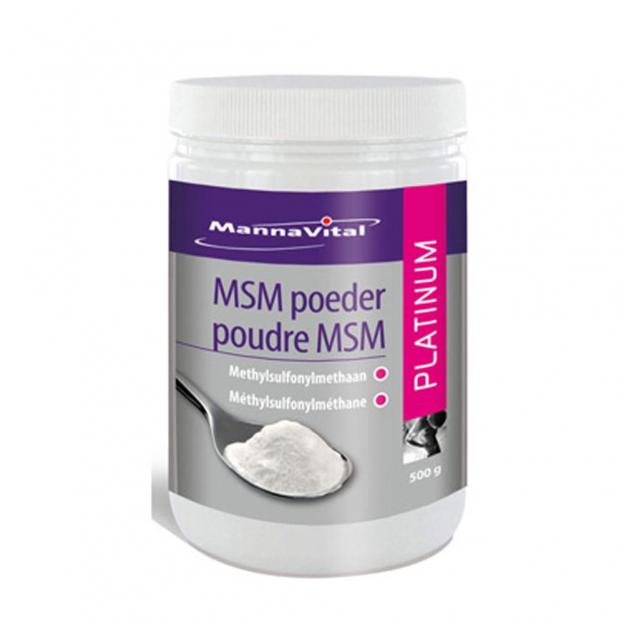Mannavital MSM poeder Platinum